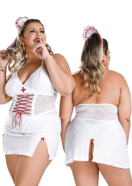 Naughty Nurse Plus Size Costume by Hot Flowers