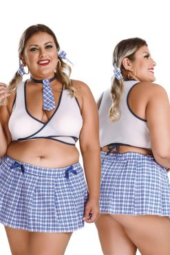 Malicious School Girl Plus Size Costume by Hot Flowers